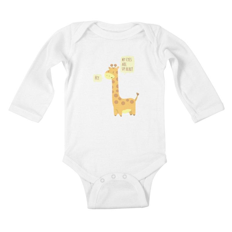 Giraffe Problems! Kids Baby Longsleeve Bodysuit by anishacreations's Artist Shop
