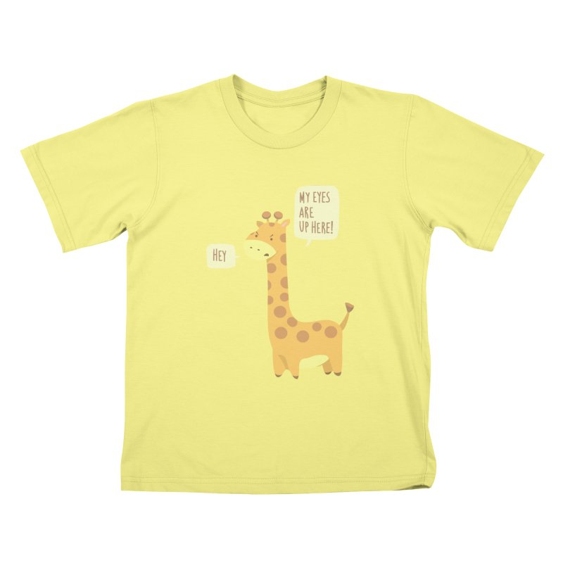 Giraffe Problems! Kids T-shirt by anishacreations's Artist Shop