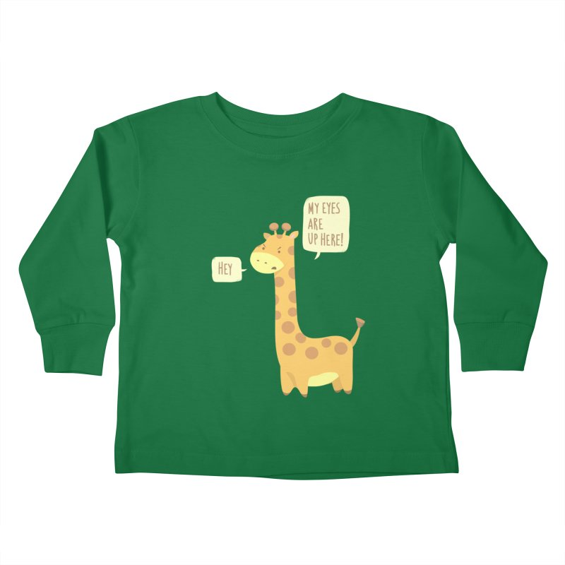 Giraffe Problems! Kids Toddler Longsleeve T-Shirt by anishacreations's Artist Shop