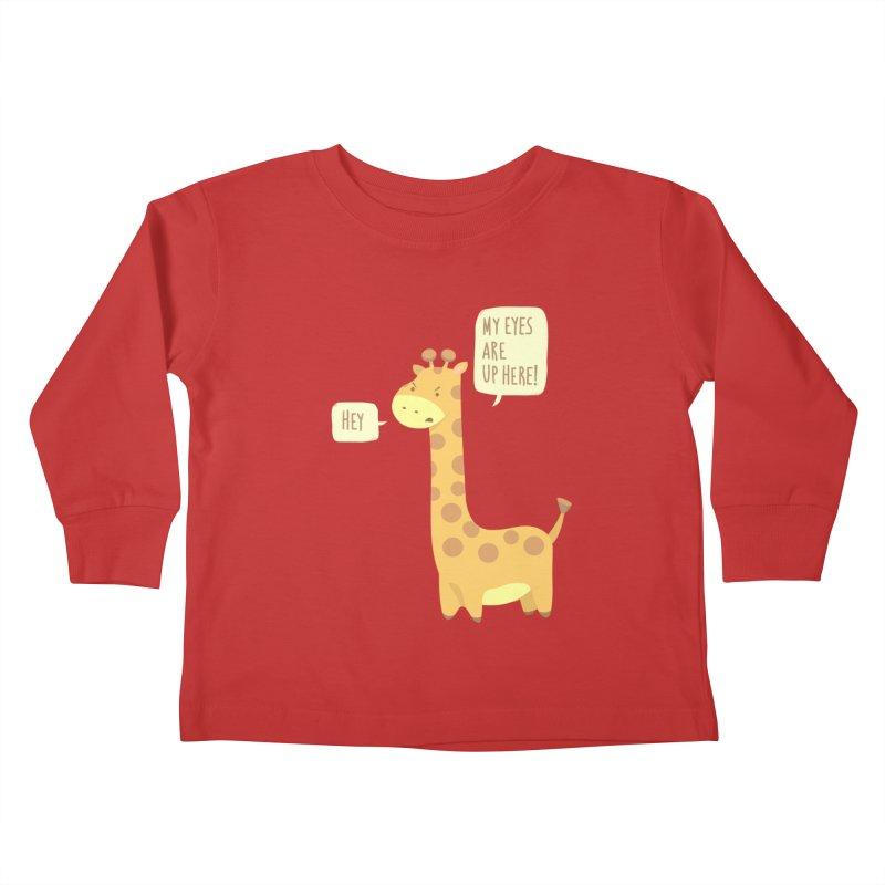Giraffe Problems! Kids Toddler Longsleeve T-Shirt by anishacreations's Artist Shop
