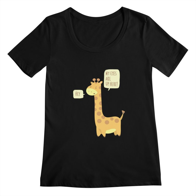 Giraffe Problems! Women's Scoopneck by anishacreations's Artist Shop