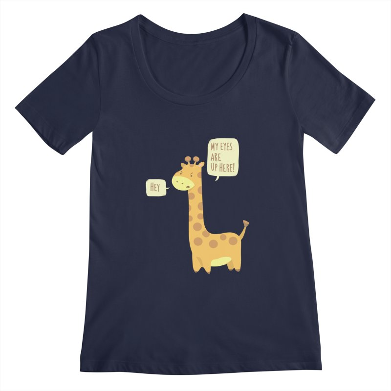 Giraffe Problems! Women's Regular Scoop Neck by anishacreations's Artist Shop