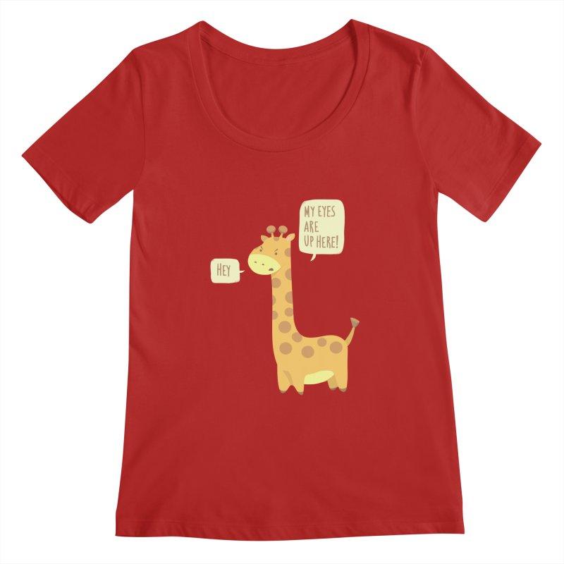 Giraffe Problems! Women's Scoopneck by anishacreations's Artist Shop