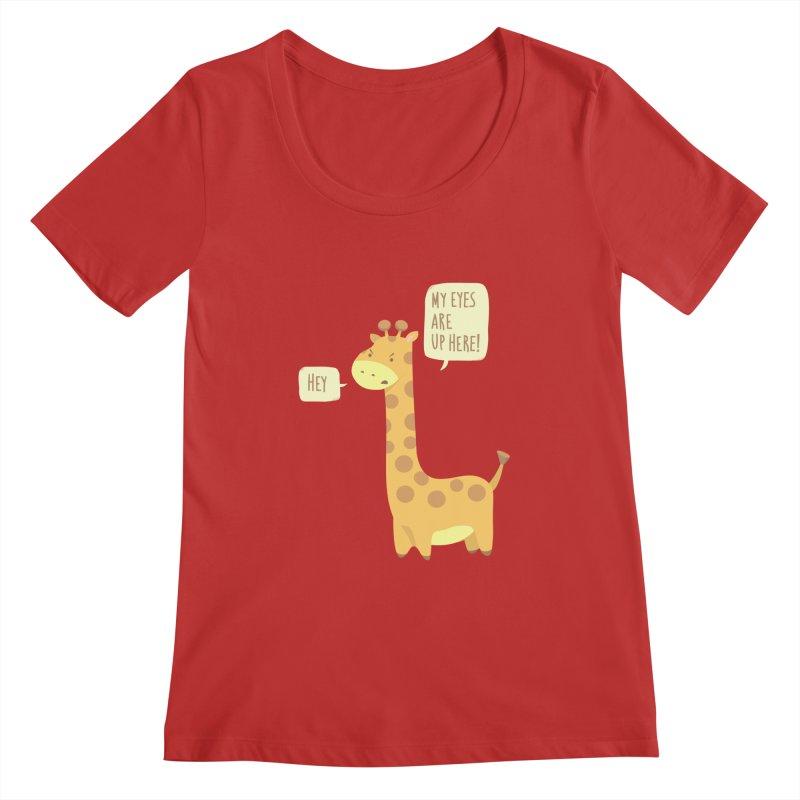 Giraffe Problems! Women's Regular Scoop Neck by anishacreations's Artist Shop