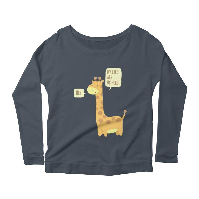 Giraffe Problems! Women's Longsleeve Scoopneck  by anishacreations's Artist Shop