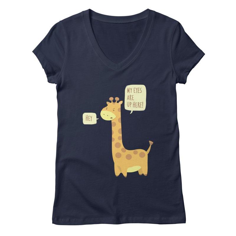 Giraffe Problems! Women's V-Neck by anishacreations's Artist Shop