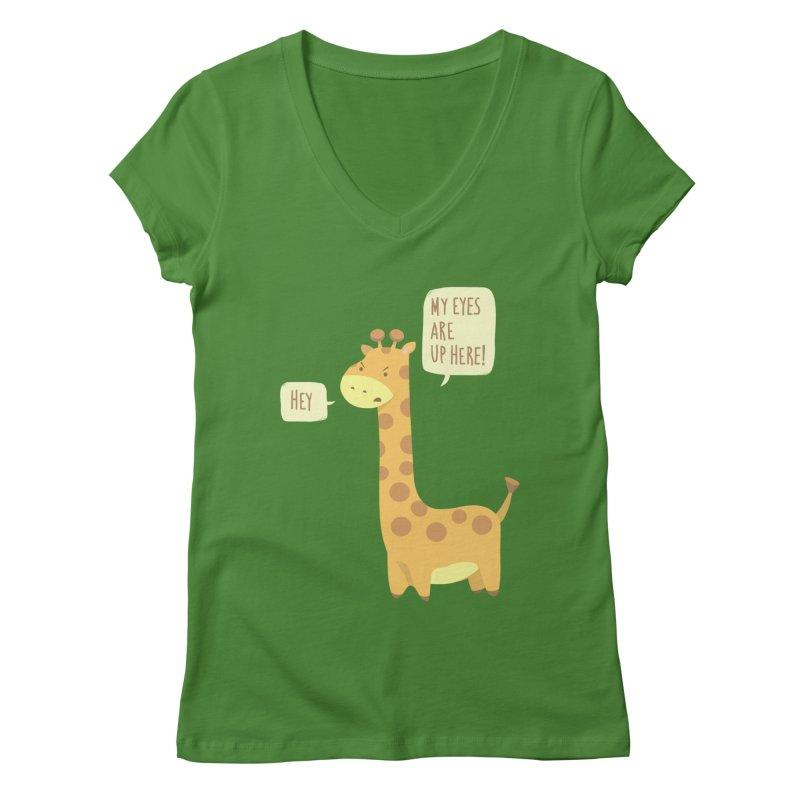 Giraffe Problems! Women's V-Neck by anishacreations's Artist Shop
