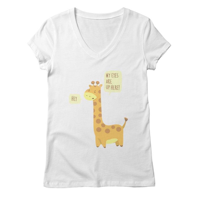 Giraffe Problems! Women's Regular V-Neck by anishacreations's Artist Shop