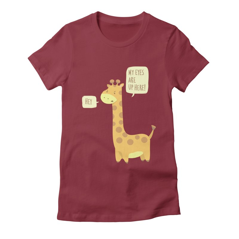 Giraffe Problems! Women's Fitted T-Shirt by anishacreations's Artist Shop