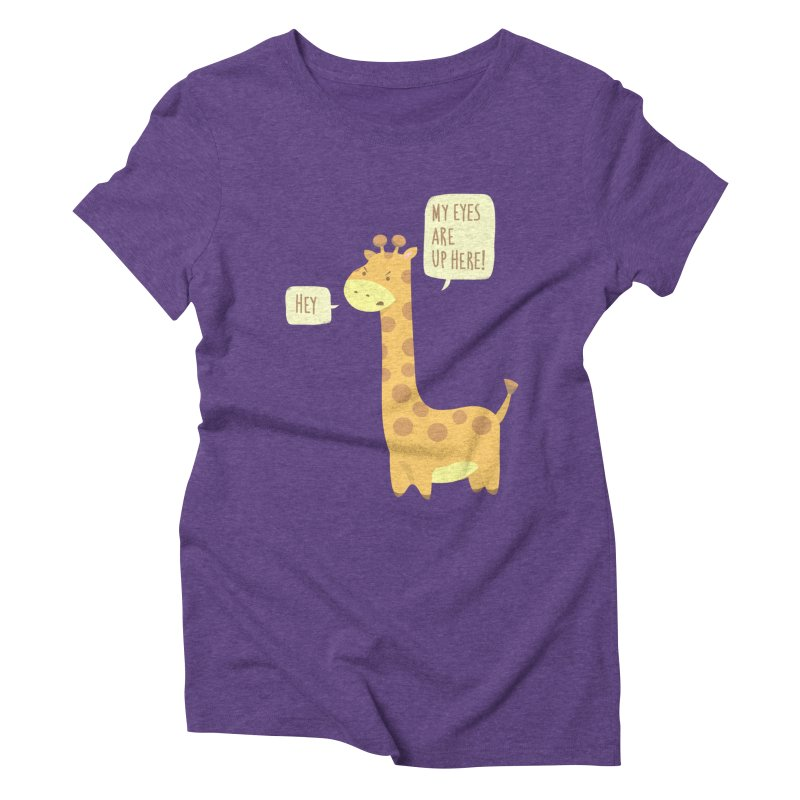 Giraffe Problems! Women's Triblend T-Shirt by anishacreations's Artist Shop