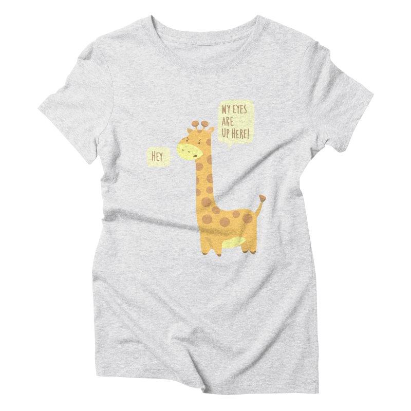 Giraffe Problems! Women's Triblend T-Shirt by anishacreations's Artist Shop