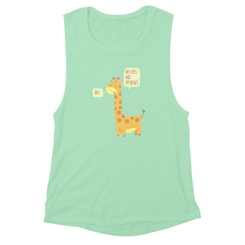 Giraffe Problems! Women's Muscle Tank by anishacreations's Artist Shop