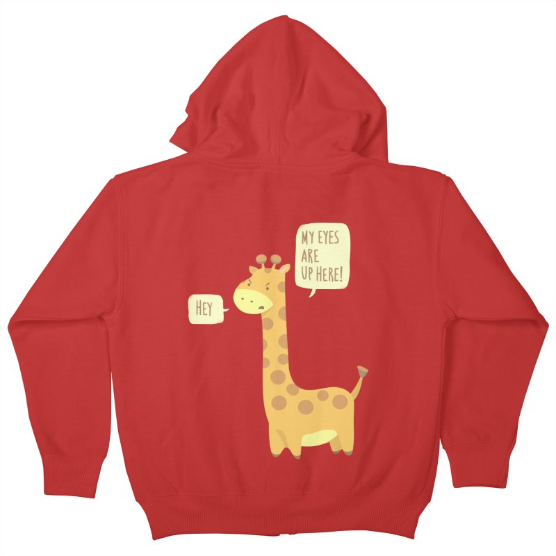 Giraffe Problems! Kids Zip-Up Hoody by anishacreations's Artist Shop
