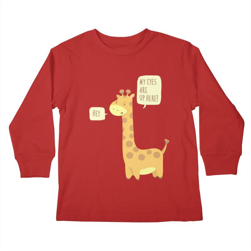 Giraffe Problems! Kids Longsleeve T-Shirt by anishacreations's Artist Shop