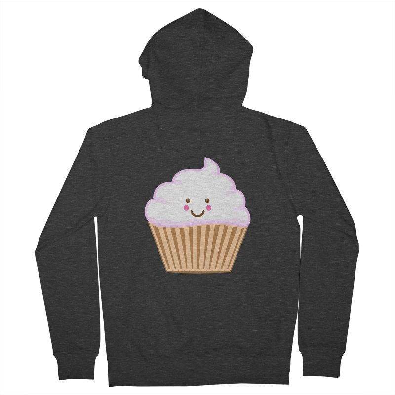 First, Cupcake! Men's French Terry Zip-Up Hoody by anishacreations's Artist Shop
