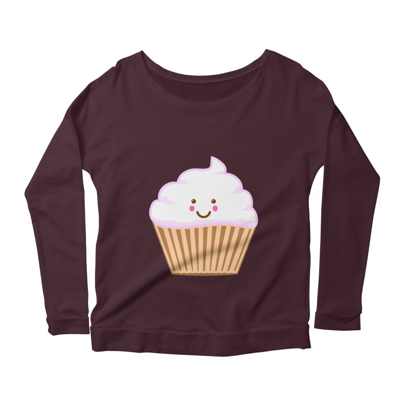 First, Cupcake! Women's Longsleeve Scoopneck  by anishacreations's Artist Shop