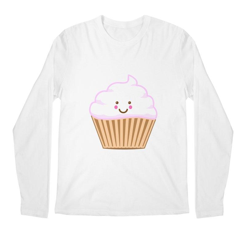 First, Cupcake! Men's Regular Longsleeve T-Shirt by anishacreations's Artist Shop