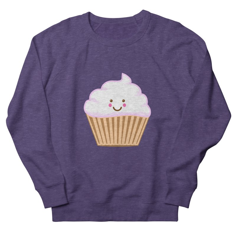 First, Cupcake! Women's French Terry Sweatshirt by anishacreations's Artist Shop