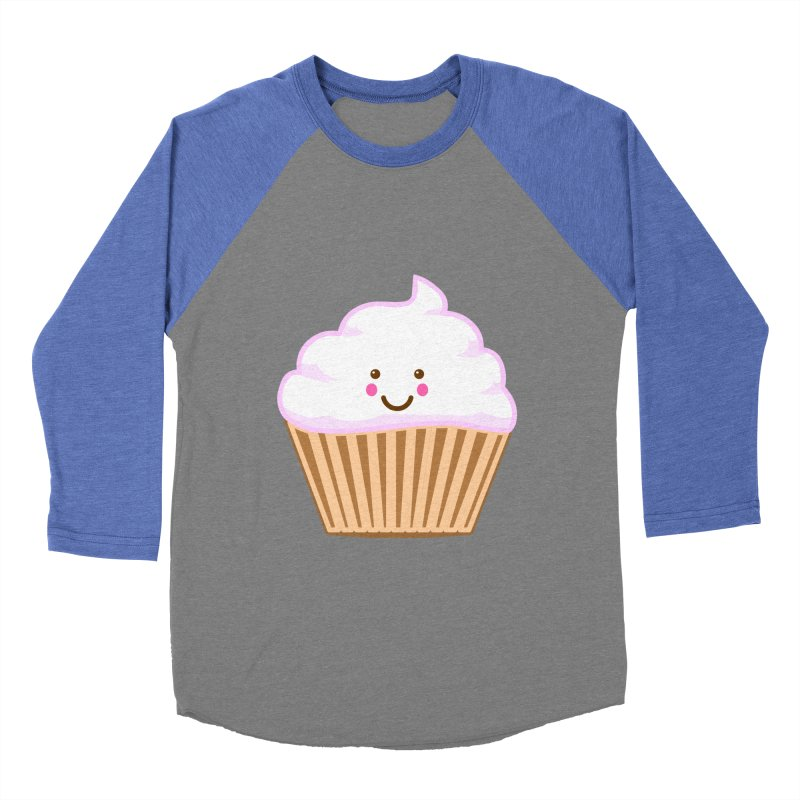 First, Cupcake! Men's Baseball Triblend Longsleeve T-Shirt by anishacreations's Artist Shop