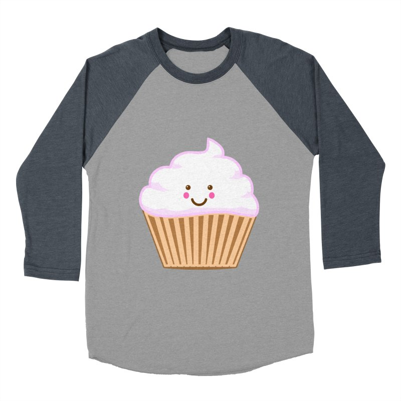 First, Cupcake! Men's Baseball Triblend T-Shirt by anishacreations's Artist Shop