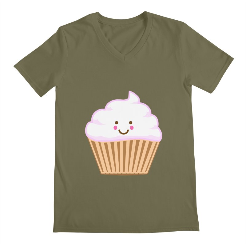 First, Cupcake! Men's Regular V-Neck by anishacreations's Artist Shop
