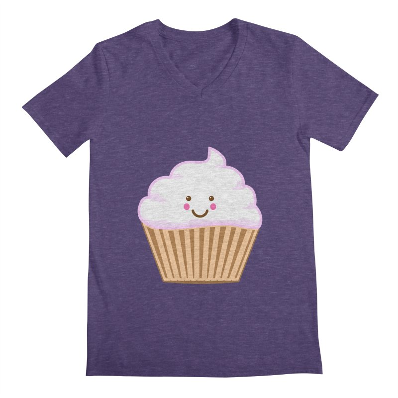 First, Cupcake! Men's V-Neck by anishacreations's Artist Shop