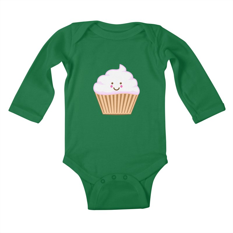 First, Cupcake! Kids Baby Longsleeve Bodysuit by anishacreations's Artist Shop