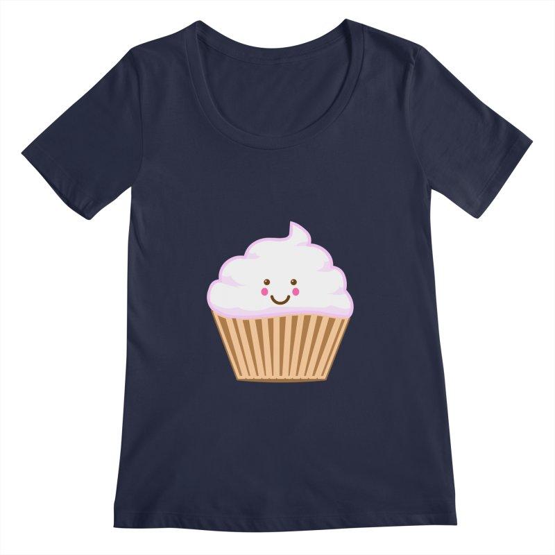 First, Cupcake! Women's Regular Scoop Neck by anishacreations's Artist Shop