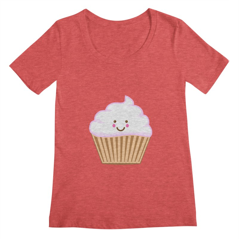 First, Cupcake! Women's Regular Scoop Neck by anishacreations's Artist Shop