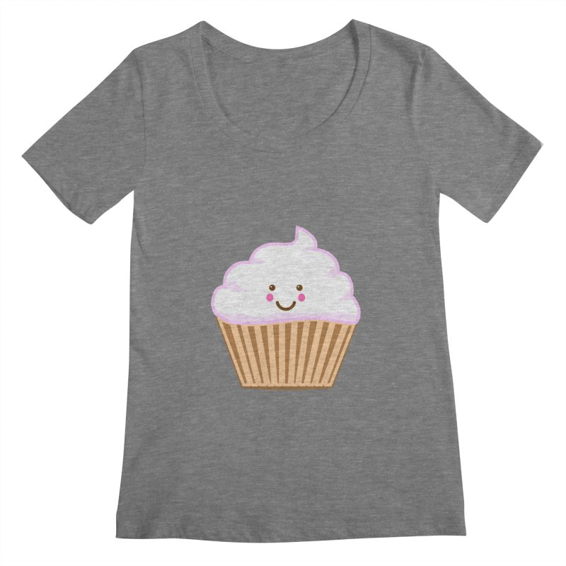 First, Cupcake! Women's Scoopneck by anishacreations's Artist Shop
