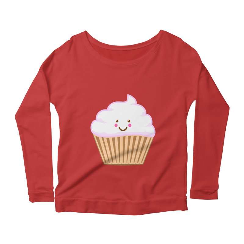 First, Cupcake! Women's Longsleeve Scoopneck  by anishacreations's Artist Shop