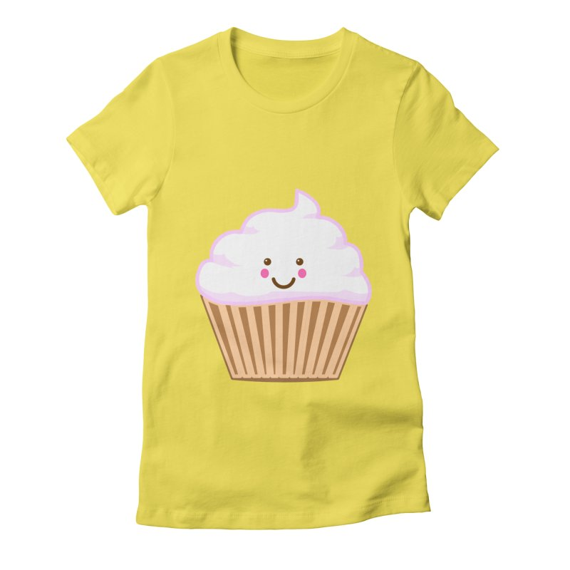 First, Cupcake! Women's Fitted T-Shirt by anishacreations's Artist Shop
