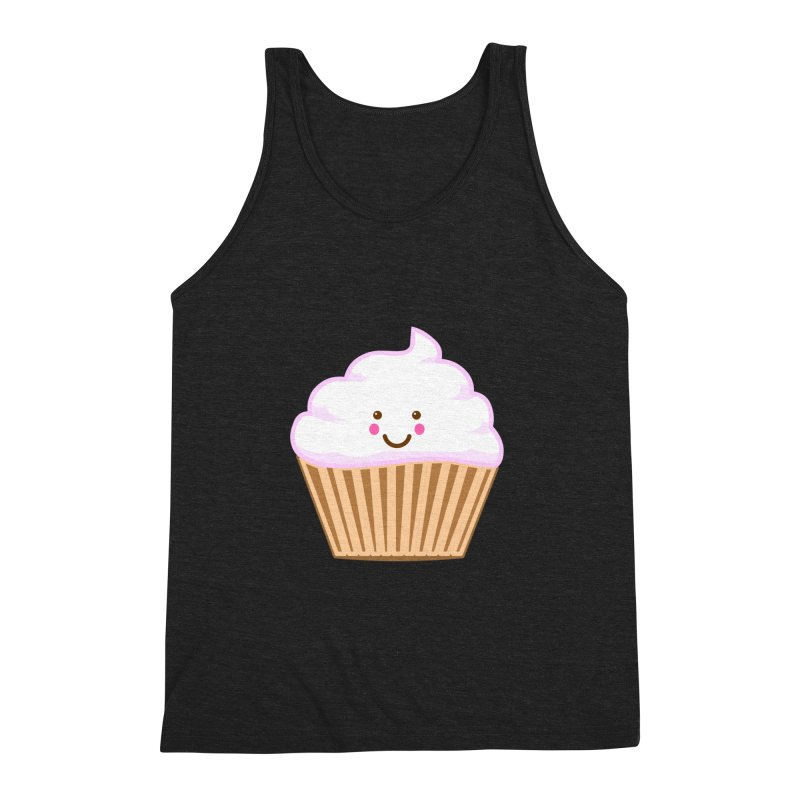 First, Cupcake! Men's Triblend Tank by anishacreations's Artist Shop