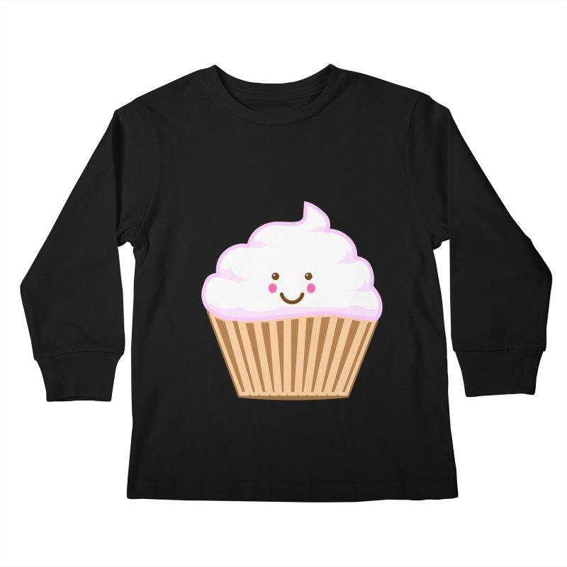 First, Cupcake! Kids Longsleeve T-Shirt by anishacreations's Artist Shop