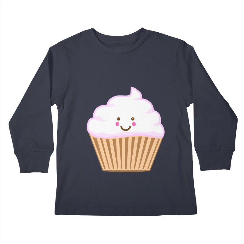 First, Cupcake! Kids Longsleeve T-Shirt by anishacreations's Artist Shop