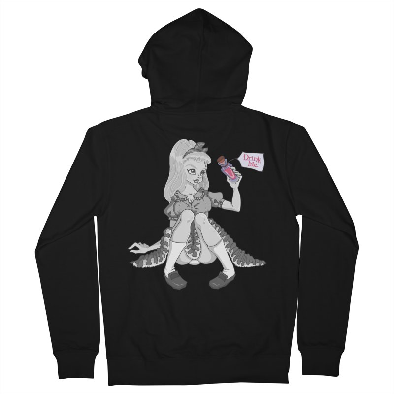 Alice Men's Zip-Up Hoody by anishacreations's Artist Shop