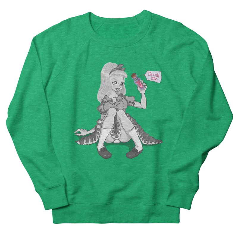 Alice Men's French Terry Sweatshirt by anishacreations's Artist Shop