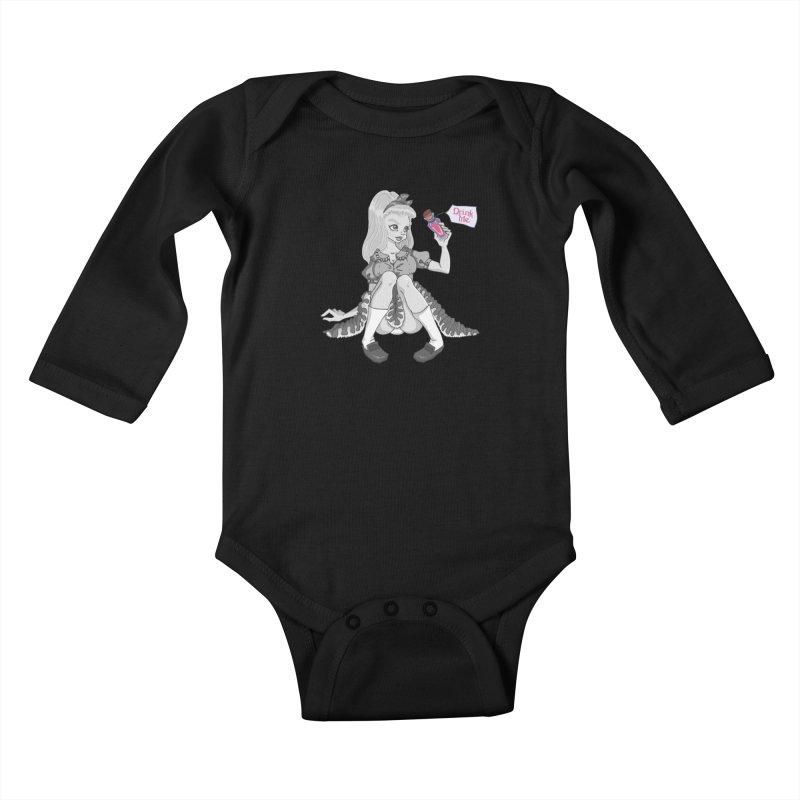Alice Kids Baby Longsleeve Bodysuit by anishacreations's Artist Shop