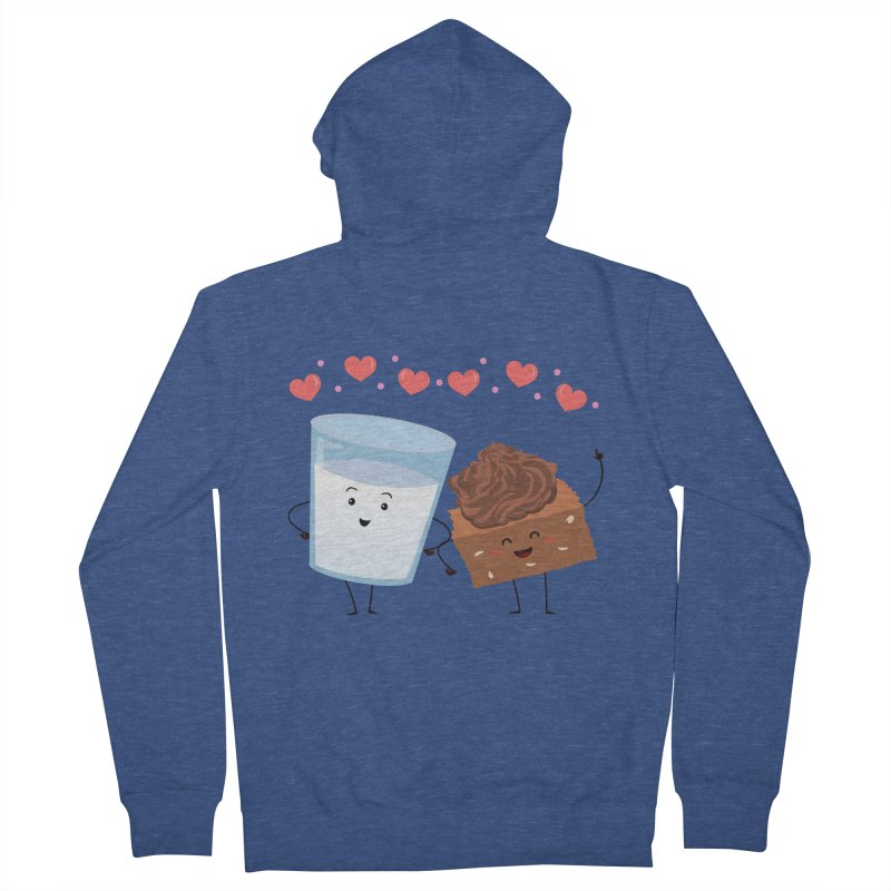 Brownie's BFF Men's French Terry Zip-Up Hoody by anishacreations's Artist Shop