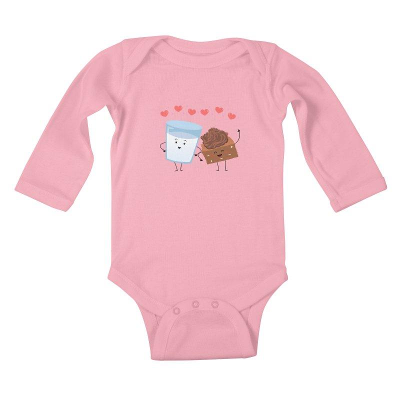 Brownie's BFF Kids Baby Longsleeve Bodysuit by anishacreations's Artist Shop