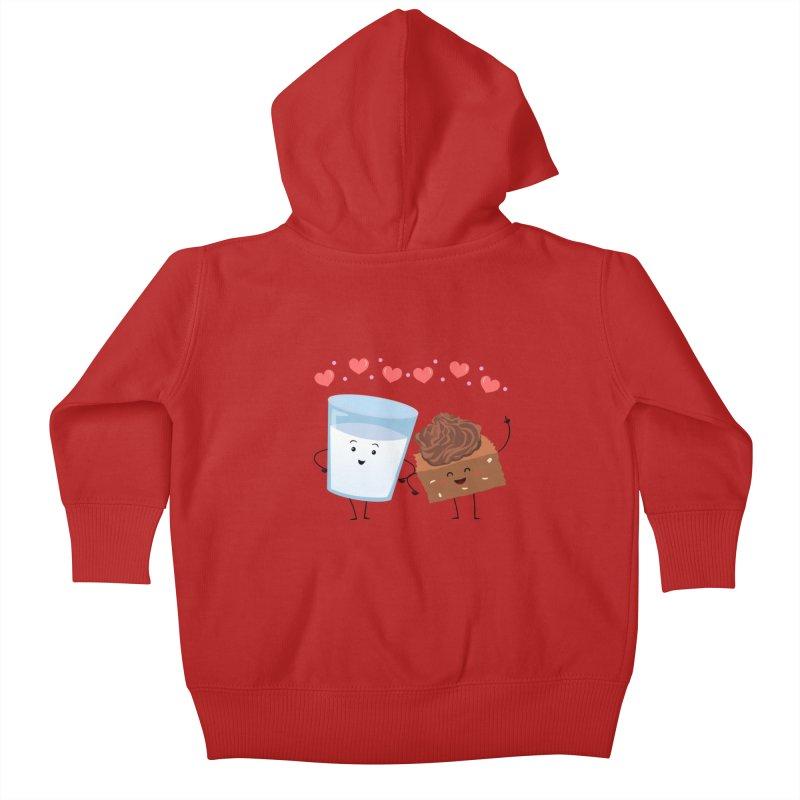 Brownie's BFF Kids Baby Zip-Up Hoody by anishacreations's Artist Shop