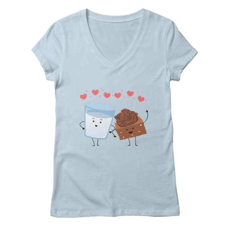 Brownie's BFF Women's V-Neck by anishacreations's Artist Shop