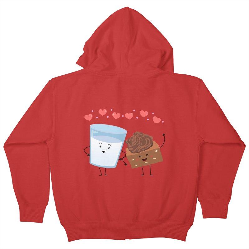 Brownie's BFF Kids Zip-Up Hoody by anishacreations's Artist Shop