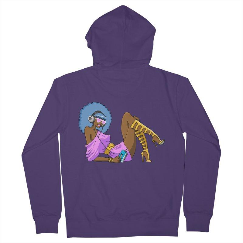 Funky Retro Girl Women's Zip-Up Hoody by anishacreations's Artist Shop