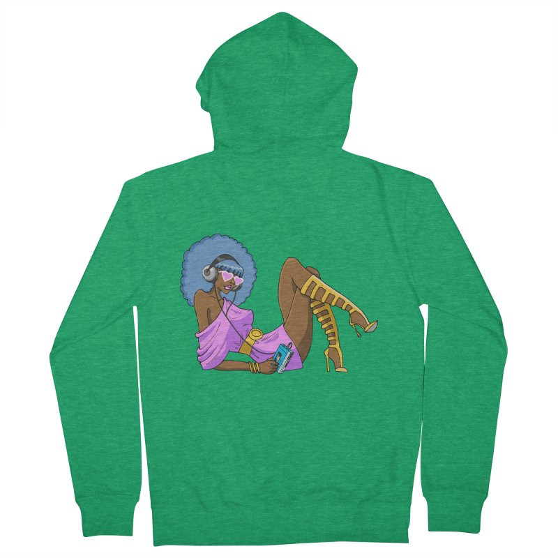 Funky Retro Girl Men's French Terry Zip-Up Hoody by anishacreations's Artist Shop