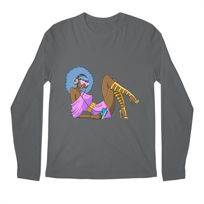 Funky Retro Girl Men's Longsleeve T-Shirt by anishacreations's Artist Shop