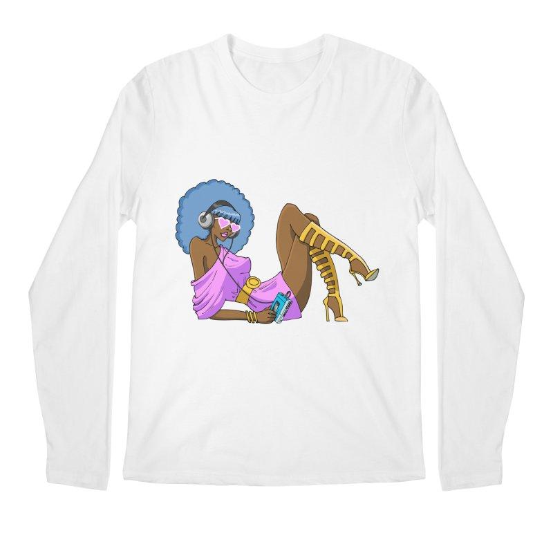 Funky Retro Girl Men's Regular Longsleeve T-Shirt by anishacreations's Artist Shop