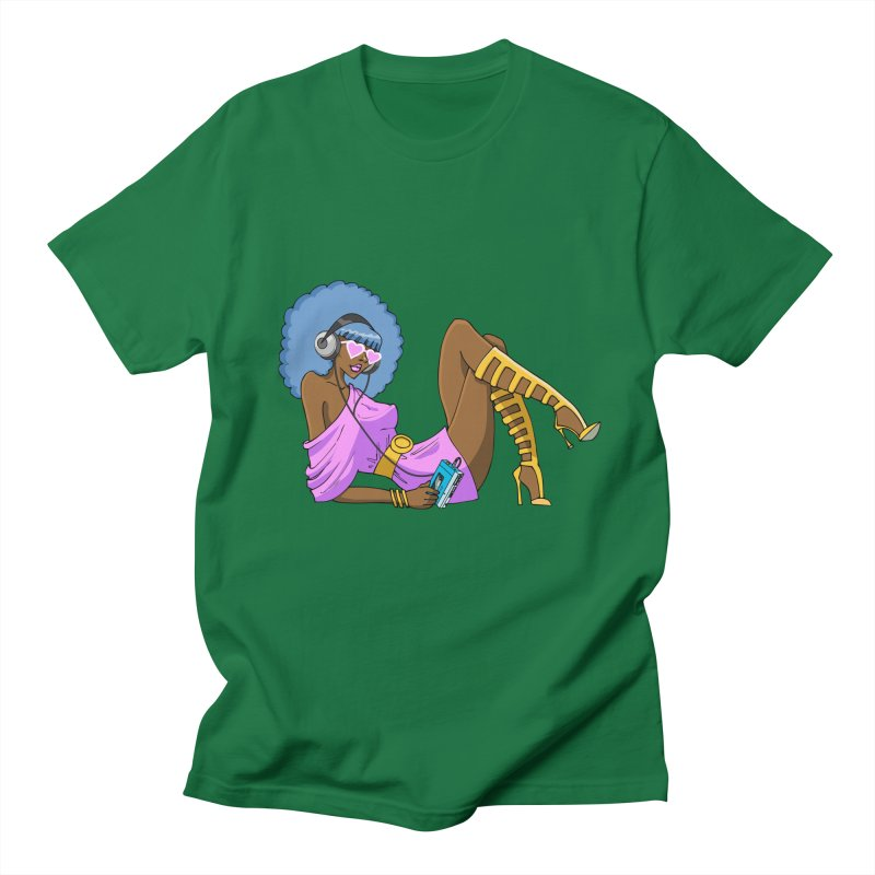 Funky Retro Girl Men's T-shirt by anishacreations's Artist Shop