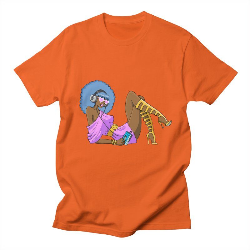 Funky Retro Girl Men's T-shirt by anishacreations's Artist Shop