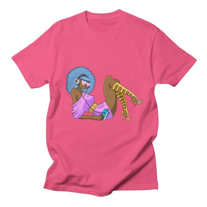 Funky Retro Girl Men's Regular T-Shirt by anishacreations's Artist Shop